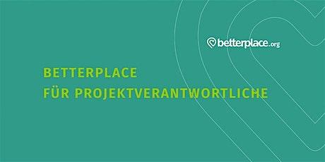 betterplace.org-Sprechstunde für Projektverantwortliche Tickets