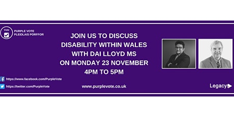 The Purple Vote Q&A event with Dai Lloyd MS tickets