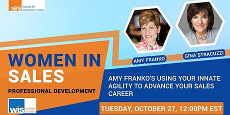 Women in Sales: A. Franko's Using Your Agility to Advance Your Sales Career tickets