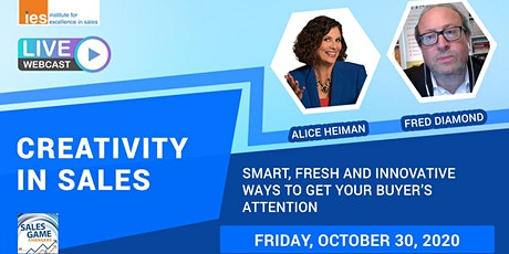CREATIVITY IN SALES: Alice Heiman's Ways to Get Your Buyer's Attention tickets