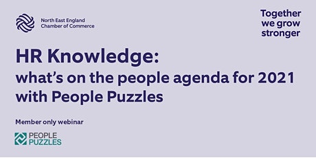 What's on the People Agenda for 2021? – an HR session with People Puzzles tickets