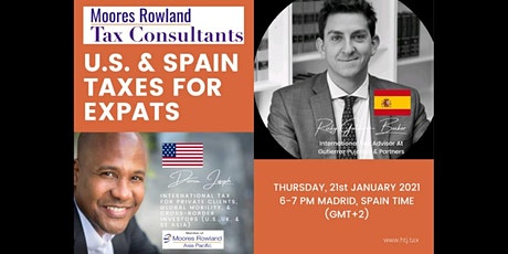 Webinar on U.S. /SPAIN TAXES FOR EXPATS (Madrid, Spain Time) tickets