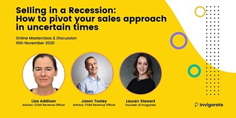 Selling in a Recession: How to pivot your sales approach in uncertain times tickets