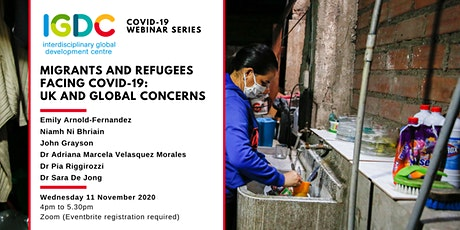 Migrants and refugees facing Covid-19: UK and global concerns. tickets