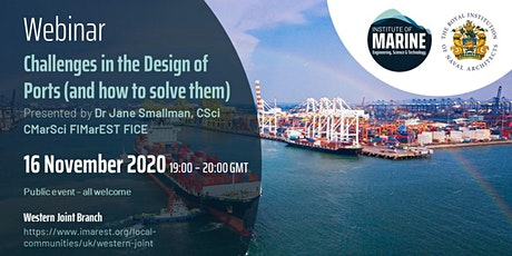 WEBINAR: Challenges in the Design of Ports (and ways to solve them) tickets