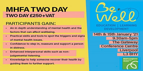 Adult Mental Health First Aid Two Day tickets