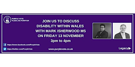 The Purple Vote Q&A event with Mark Isherwood MS tickets