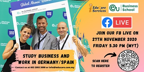 FB LIVE EU Business School : Study Business and Work in Germany/Spain tickets