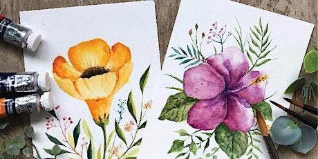 【水彩花卉明信片工作坊 - 小班教學】 Floral Illustration Postcards tickets