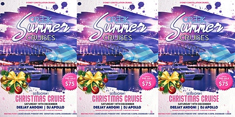 GREEK SUMMER CRUISES - SESSION#1- CHRISTMAS CRUISE 2020 tickets
