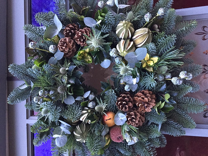 Christmas Wreath Workshop with Poppies & Peonies image
