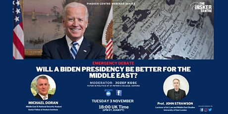 Emergency Debate: Will a Biden Presidency be better for the Middle East? tickets
