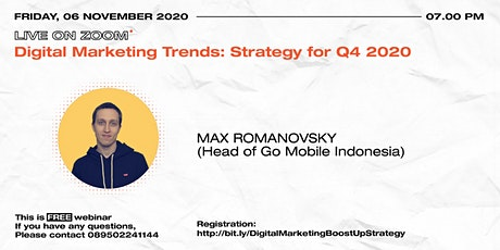Digital Marketing Trends: Strategy for Q4 2020 tickets