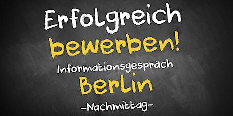 Bewerbungscoaching Informationsgespräch AVGS Berlin Mitte (Nachmittag) Tickets