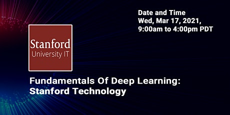Online Fundamentals of Deep Learning: Stanford Technology tickets