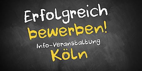 Bewerbungscoaching Infoveranstaltung AVGS Köln Tickets