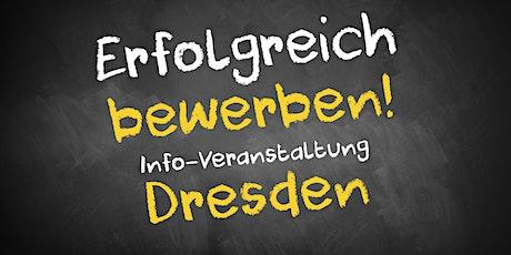 Bewerbungscoaching Infoveranstaltung AVGS Dresden (Nachmittag) Tickets