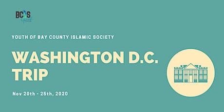 BCIS YTH Washington D.C. Trip - Scholarship Application tickets