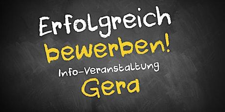 Bewerbungscoaching Infoveranstaltung AVGS Gera Tickets