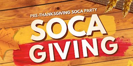 SOCA GIVING - Pre-Thanksgiving Soca Party boletos