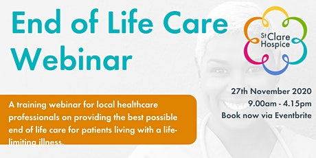 End of Life Care Webinar - November tickets
