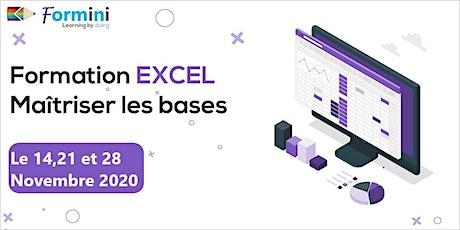 Formation EXCEL: Maitriser Les Bases -Novembre20 billets