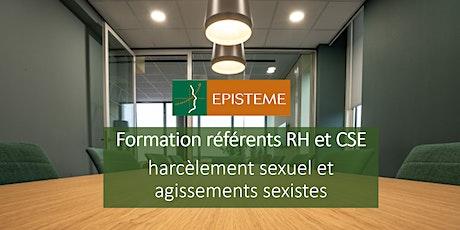 Formation réferents RH et CSE harcèlement sexuel et agissements sexistes billets