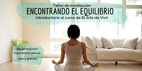 Encontrando el Equilibrio - Taller de Meditación (Mar del Plata y zona) entradas