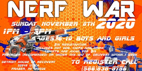Nerf War 2020 at the Detroit House of Recovery tickets