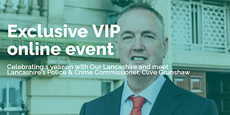Meet Lancashire's Police & Crime Commissioner tickets