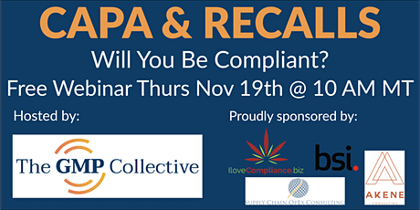 Integrated CAPA and Recall Training Seminar (Nov) tickets