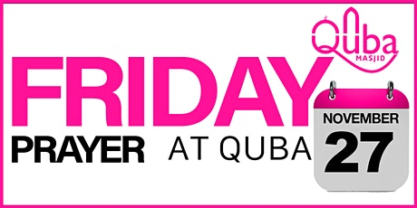 Quba Masjid  Friday Prayer tickets