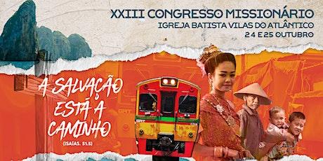 Congresso Missionário - Domingo (25/10) ingressos