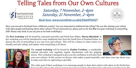 Storytelling Workshop: Telling Tales from Our Own Cultures tickets