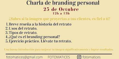 Charla sobre fotografía de Branding Personal entradas