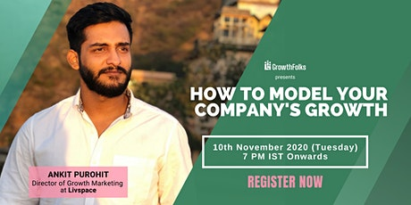 How to Model Your Company's Growth   Webinar  Growth Folks tickets