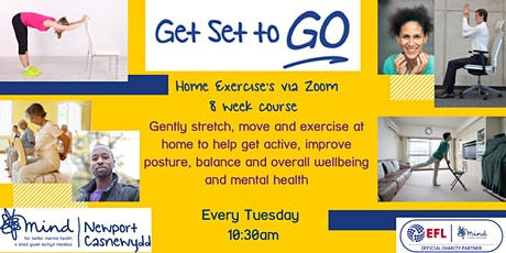 Home Exercise via Zoom tickets