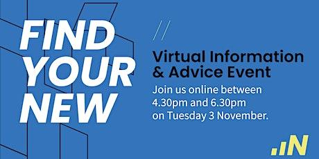 Virtual Information & Advice -  03 November 2020 tickets
