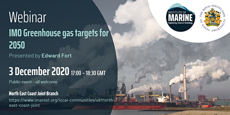 WEBINAR: IMO Greenhouse gas targets for 2050 tickets