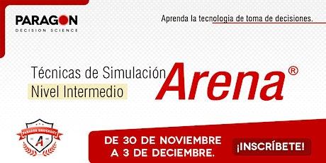 Entrenamiento online: Técnicas de nivel intermedio en Simulación con Arena entradas