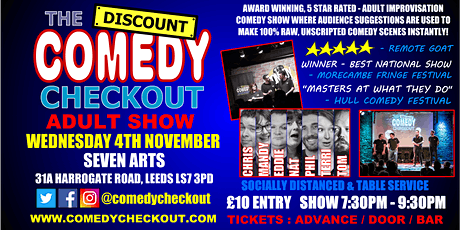 Comedy Night at Seven Arts Leeds - Wednesday 4th Nov tickets