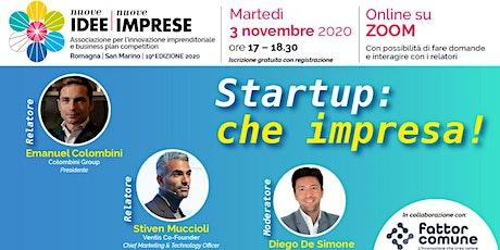 Startup: che impresa! Online in diretta su Zoom biglietti