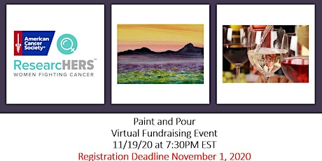 Paint and  Pour -  American Cancer Society  ResearcHERS Campaign tickets