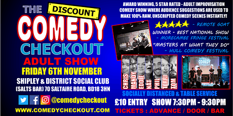 Comedy Night at Shipley & District Social Club AKA Salts Bar - Fri 6th Nov tickets
