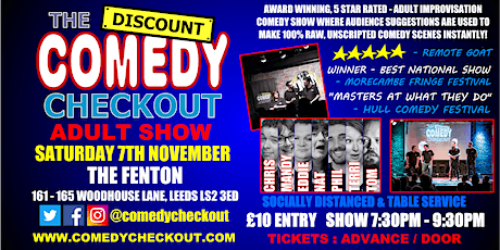 Comedy Night at The Fenton Leeds - Saturday 7th Nov tickets
