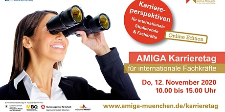 Online AMIGA Karrieretag für internationale Talente Tickets