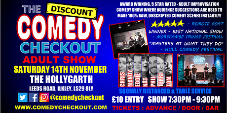 Comedy Night at The Hollygarth Ilkley - Saturday 14th Nov tickets