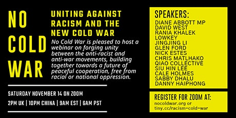 Uniting Against Racism and the New Cold War tickets