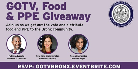 GOTV, Food Distribution & PPE Giveaway tickets
