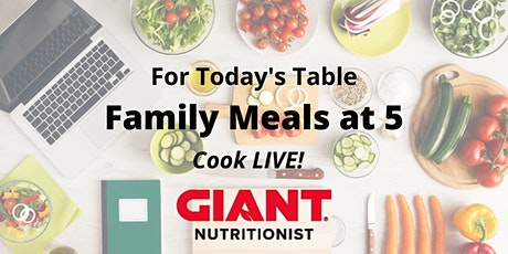 December VIRTUAL Family Meals at 5 tickets